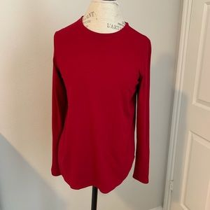 Eileen fisher red jersey long sleeves tee